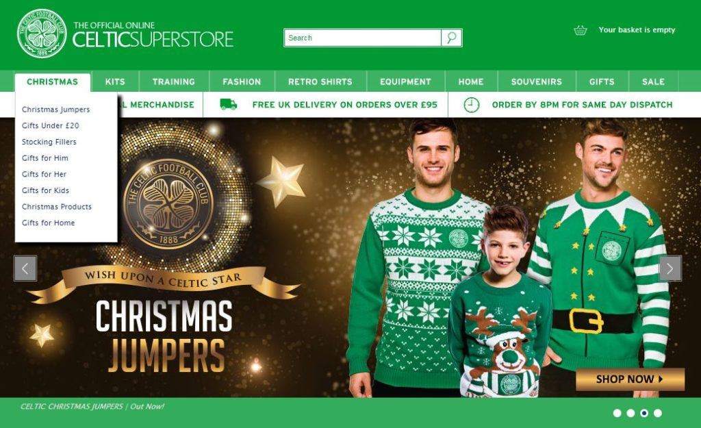 Celtic's Christmas Retail Offering